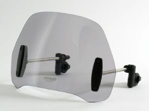 MRA Street Shield Windshield for Naked/Unfaired &  Cruiser Bikes (Clear, Smoke & Black)